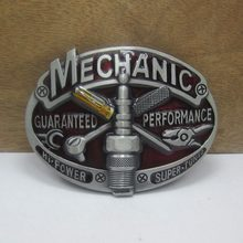 BuckleClub Retro Mechanic Tool BELT BUCKLE Welder MACHINIST Electrician Carpenter PLUMBER Linesman Belt Buckle 4cm Width Belt
