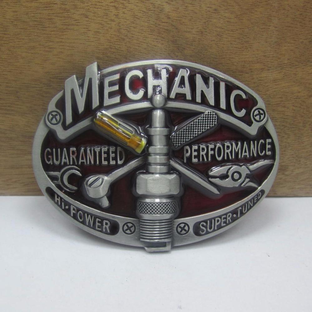 Klamra popularne w stylu retro narzędzie mechaniczne kowbojski dżins prezent klamry pasa FP-03643 cynowe wykończenie dla mężczyzn 4cm szerokość pętli drop shipping