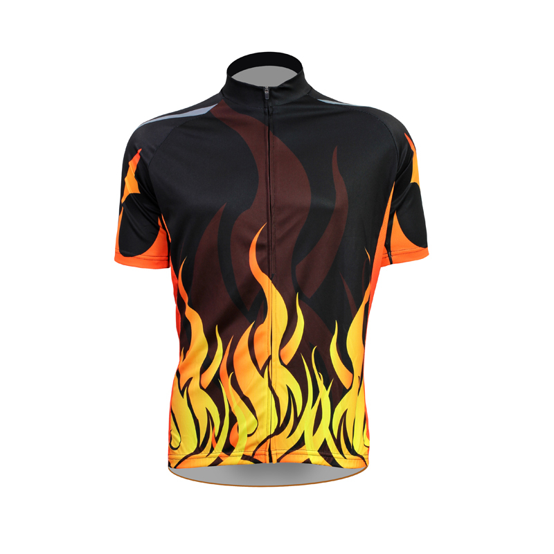 New The Flame Cycling shirt bike equipment Mens Cycling Jersey Cycling Clothing Bike Shirt Size 2XS TO 5XL ILPALADIN