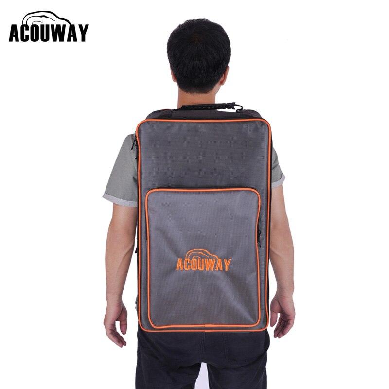 Acouway saco de tambor cajon impermeável mochila 1680d tecido 10mm estofamento tabuleiro jogo volta saco também para caminhadas ao ar livre saco de acampamento