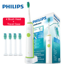 Philips Sonicare Electric Toothbrush HX3216 Rechargeable with 4 Replacement Brush Heads Waterproof Use Up to 10 Days philips sonicare family set hx6314 electric toothbrush waterproof for parent child rechargeable with charging base
