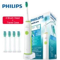 Szczoteczka elektryczna Philips Sonicare HX3216 akumulator z 4 wymienne główki do szczoteczki wodoodporne do 10 dni w Elektryczne szczoteczki do zębów od AGD na