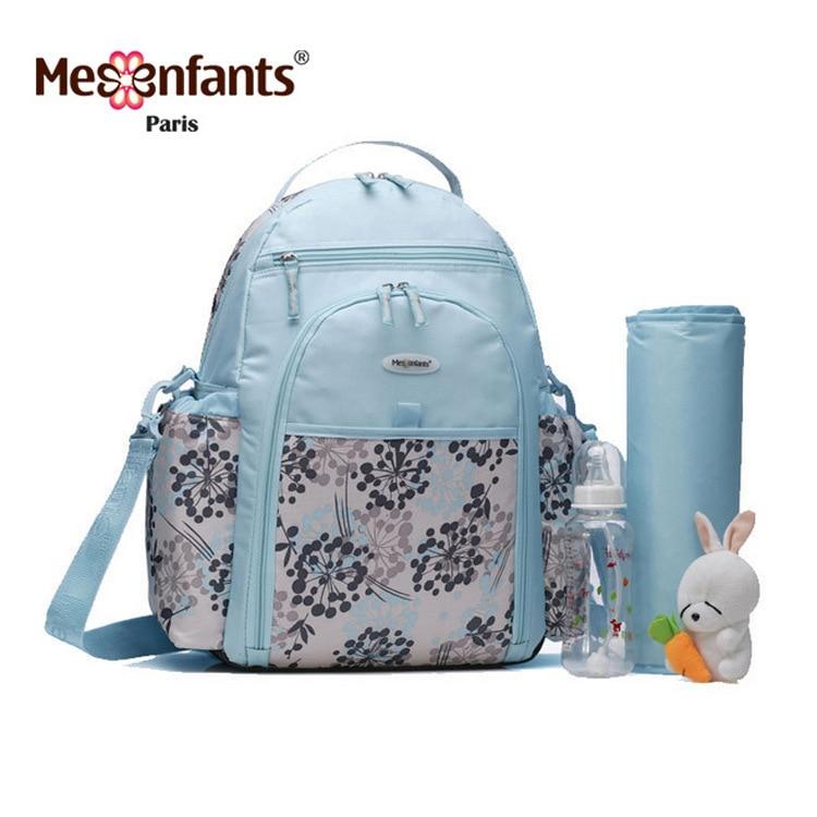 Mesenfants 2017 New 5pc/set Mummy Maternity Nappy Bag Suit Multifunction Large Capacity Travel Backpack Baby Care dig it out mummy model excavation kit 5 set