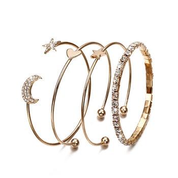 Women Bracelet set gold color Fashion jewelry