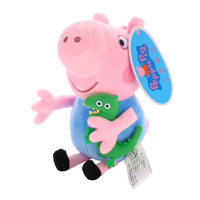 Original 19cm Peppa Pig George Animal Stuffed Plush Toys Cartoon Family Friend Pig Party Dolls For Girl Children Birthday Gifts 2