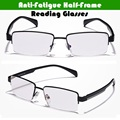 Business Casual Style High Quality Half Frame Anti Fatigue Alloy Reading Glasses