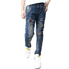 2016 Automne Enfants Filles Élastique Jeans Pantalon Bébé Marque De Mode Enfants Pantalon Enfants Vêtements Chaud Jeans