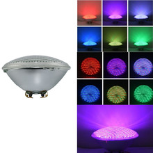 цены на RGB PAR 56 LED Swimming Pool Light Bulb 25W PAR56 White 12V Spa Lamp IP68 Piscina Pool (RGB with Remote) Muliti Color Pond Light  в интернет-магазинах