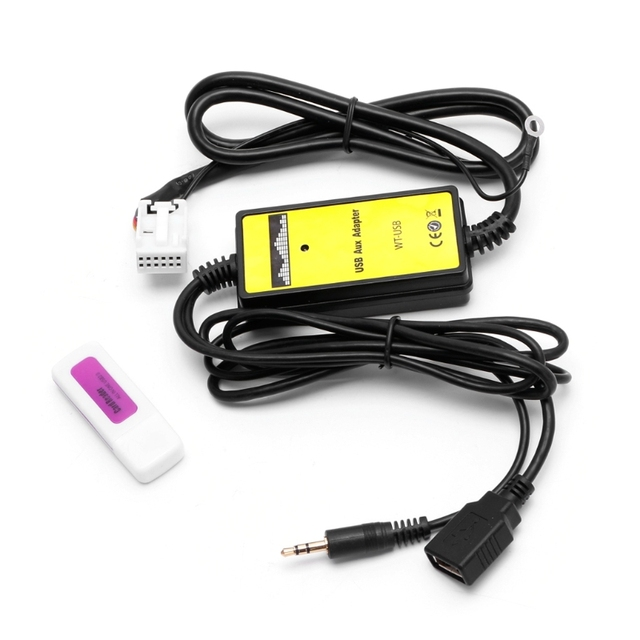 Car USB Aux in CD Adapter MP3 Player Radio Interface 12 Pin For V W Audi Skoda Seat