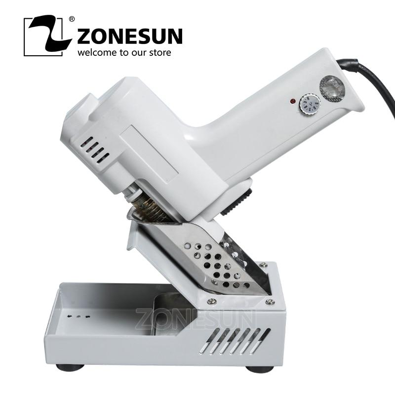 все цены на ZONESUN S-993A Electric Vacuum Desoldering Pump Solder Sucker Gun 220V 100W De-solder Gun онлайн