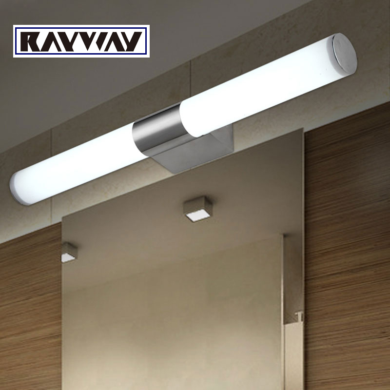 New Modern 8w 10w 40cm 46cm Led Bathroom Light Fixtures Mirror Wall Indoor Front Sconces Lighting Lamps Brief In