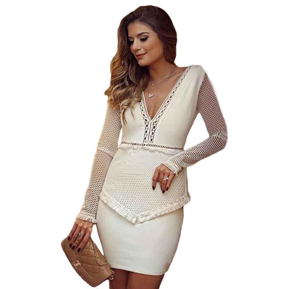 White Fringe Dress Promotion-Shop for Promotional White Fringe ...
