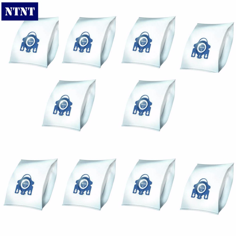 NTNT 10Pcs/Lot For Miele Type GN Deluxe Synthetic Vacuum & 4 Filters S2 S5 S8 C1 C3 Hepa Vacuum Cleaner DUST BAGS With FILTERS vacuum pump inlet filters f002 1 rc3 4 npt3 4