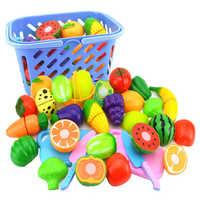 23 pièces/ensemble en plastique fruits légumes coupe jouet développement précoce et éducation jouet pour bébé enfants cuisine jouets en plastique alimentaire jouet