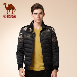 Camel men s winter down coat 2015 new models youth capless collar fashion casual long sleeved.jpg 250x250