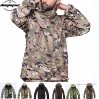 Military Jackets Men Softshell Waterpoof Camo Clothes Tactical Camouflage Army Hoody Jackets Tactical Coat + Pants