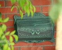 Better Box Cast Aluminum Wall Mount Mail Box Black