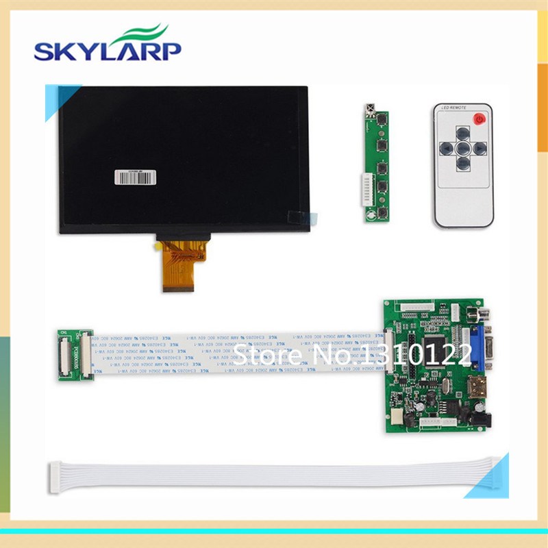 7 Inches 1024*600 IPS Screen Display LCD TFT Monitor EJ070NA-01J with Remote Driver Control Board 2AV HDMI VGA for Raspberry Pi