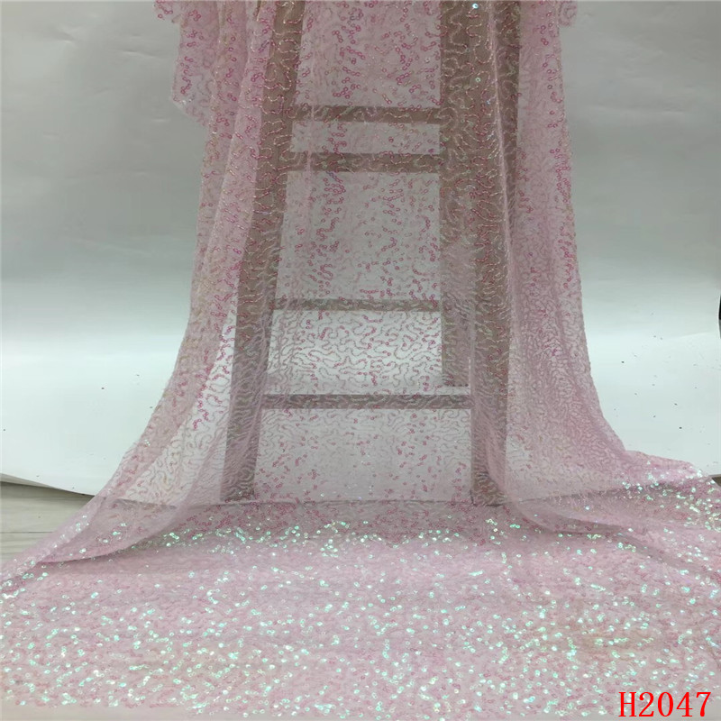 African Lace Fabric Baby Pink Italian Evening Dress Embroidery French Lace 2019 French Sequin Net Lace Fabric for Party  HX2047African Lace Fabric Baby Pink Italian Evening Dress Embroidery French Lace 2019 French Sequin Net Lace Fabric for Party  HX2047