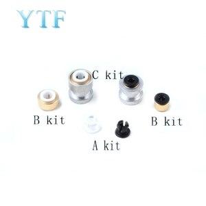 Piezas de impresora 3D Accesorios Neumáticos Titan hebilla cabeza de Metal plástico conector de tubo PTFE de inserción rápida