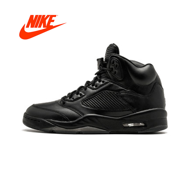 Official Original Nike Air Jordan 5 Retro Prem Men's Basketball Shoes Sneakers 881432-010 nike nike air jordan 1 mid original girl kids basketball shoes children causal skateboarding sneakers