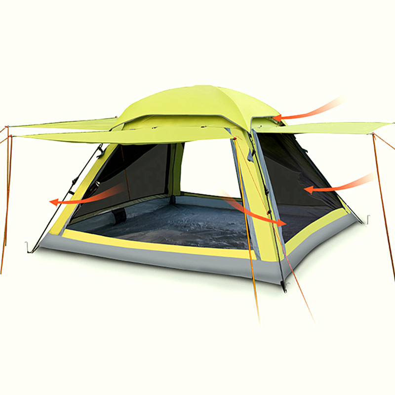 Tent Outdoor 2 People 3-4 People Double Family Set Windproof Anti-Rainstorm Automatic Tent Camping Hiking Wild TentTent Outdoor 2 People 3-4 People Double Family Set Windproof Anti-Rainstorm Automatic Tent Camping Hiking Wild Tent