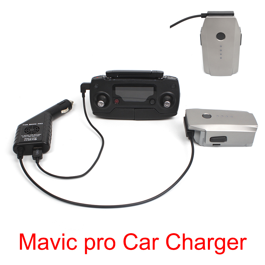 2in1 Car Charger Safe Fast Battery Controller Charger With USB Port For DJI MAVIC PRO Platinum Drone Travel Outdoor Charger