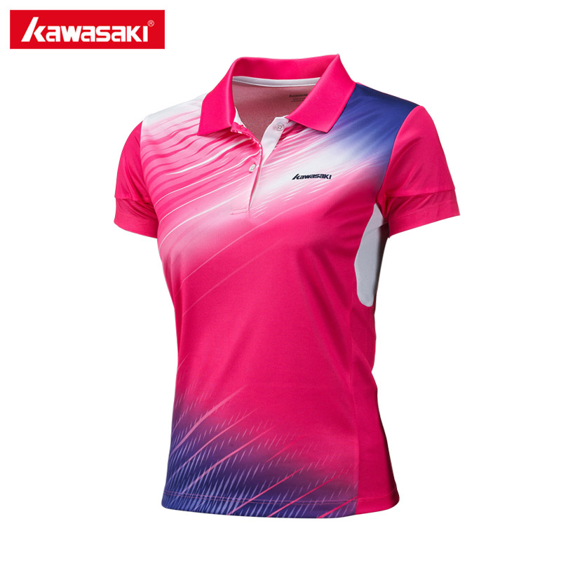 Kawasaki Clothing Sports Polo Shirts Short Sleeve for Women Quick Dry Breathable T-Shirt Woman T Shirt Sportswear ST-172012