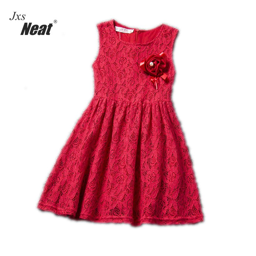 Retail children Clothing lace girls dress summer Sleeveless Cute sweet  Bow Baby Kids pretty Dresses girls clothes A151 new girls dress brand summer clothes ice cream print costumes sleeveless kids clothing cute children vest dress princess dress