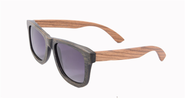 bamboo sunglasses black zebra wood sunglasses polarized UV400 sports shades for men oculos de sol feminino z6050