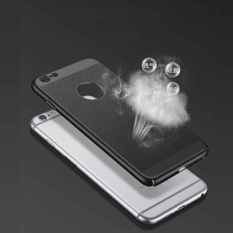 الترا سليم تبديد الحرارة حقيبة لهاتف أي فون 7 8 6 s زائد XS ماكس X XR حافظة بسيطة ماتي غطاء حماية هارد بي سي عودة كوكه كابا