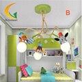 Animal dos desenhos animados Led Destaque Levou lustre modernos lustres de iluminação do quarto do bebê crianças de teto 110 V 220 V lustre
