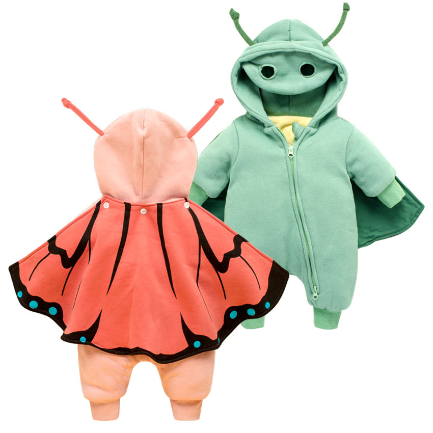 Newborn Baby Rompers for Baby Girls Kids Clothes Winter Thick Cotton Hooded Role Play Costume Children Jumpsuit Boys Outwear newborn baby girls winter coveralls boys padded thick cotton rompers kids warm jacket children outerwear clothes babt costume
