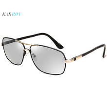 2019 New Day and Night Polarizing sunglasses Vision Box Sun Glasses Retro Men Driving