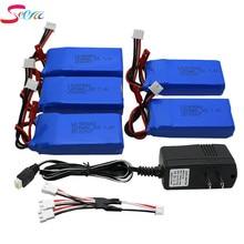 5PCS Batteria Lipo 7.4 V 1200 mah+UL Charger per V333 YiZhan Tarantula X6 WLTOYS V262 RC Helicopter Quadcopter Drone Parte X101