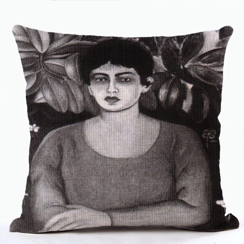 Frida Kahlo Cactus Cushion Character Painter Mexico Pillows Lounger Improvement Decorating Throw Cushion Covers Drop Shipping
