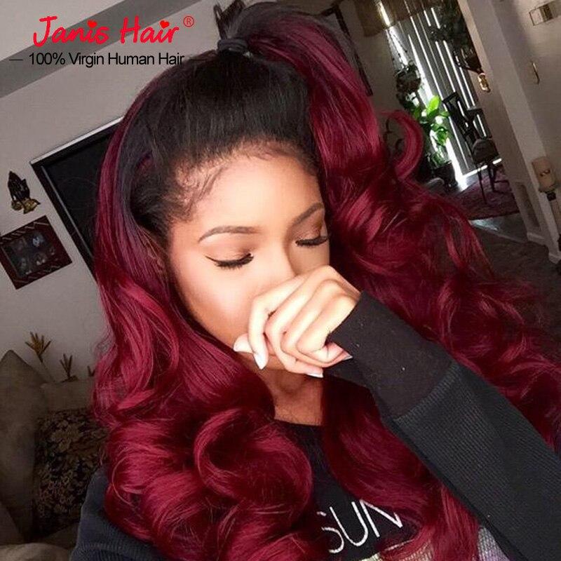 Red Hair Bundles Brazilian Burgundy Weave Ombre Human Hair