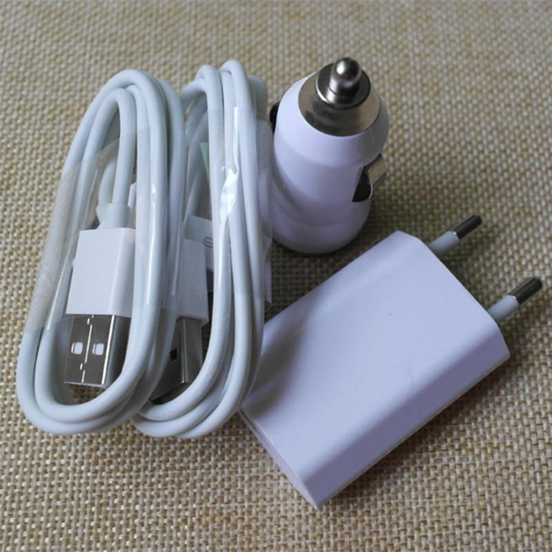 4in1 Комплект Мини Автомобильное Зарядное Устройство + 1 М 30Pin USB Синхронизации Данных Зарядный Кабель + ес plug путешествия дом зарядное устройс…