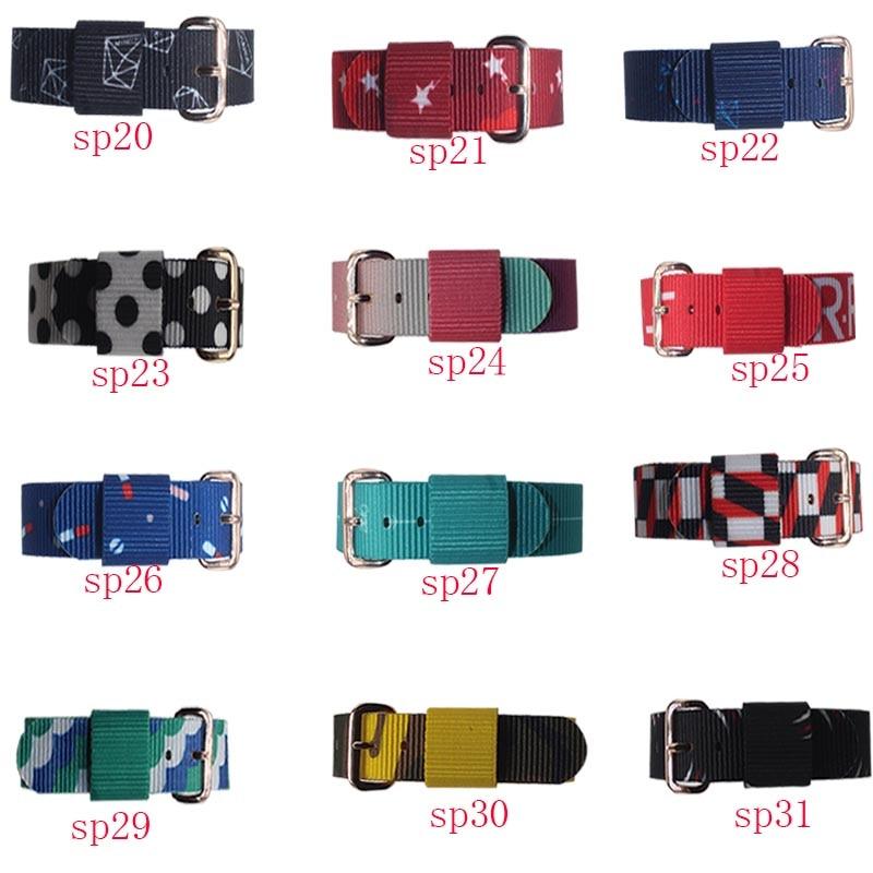 Fashion luxury brand men and women nylon NATO strap 18 / 20MM rose gold and silver buckle sports leisure quartz watch strap acce