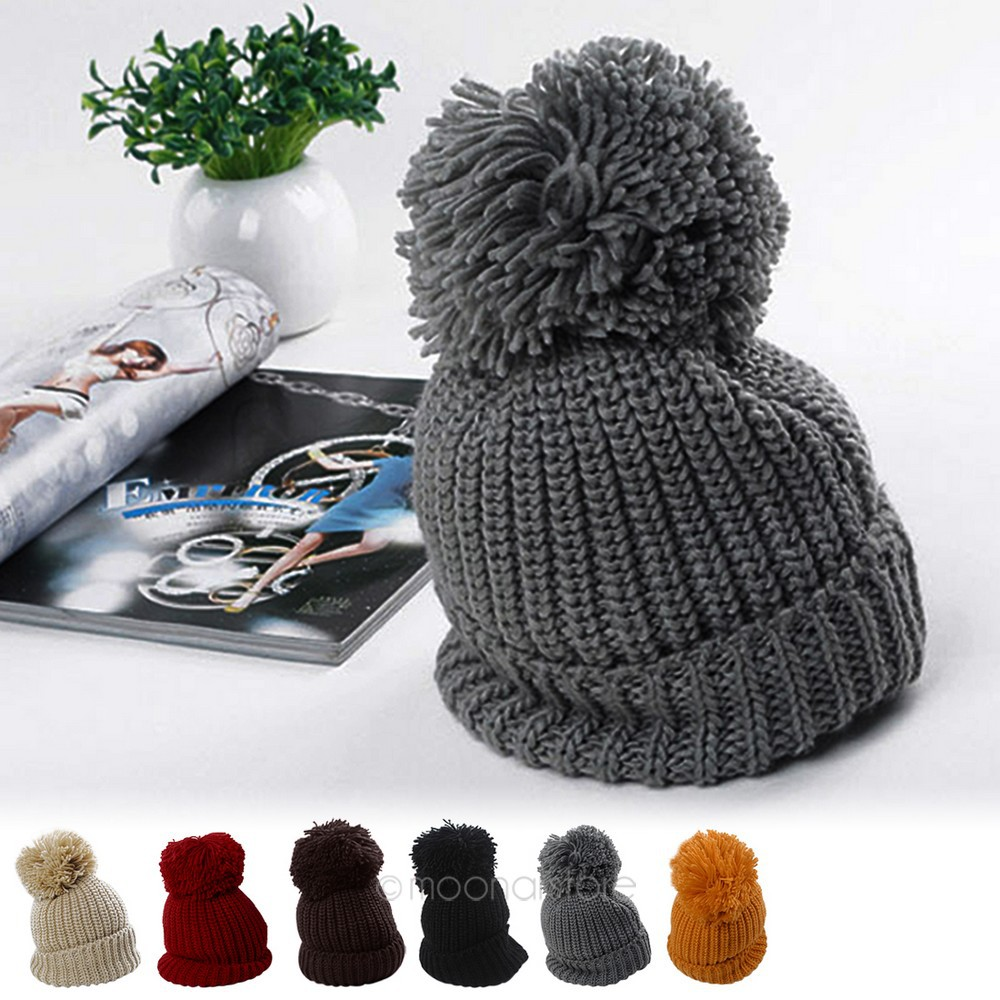 Fashion unisex winter warm knitting hat knit cap turn up cuffed fashion unisex winter warm knitting hat knit cap turn up cuffed beanie bobble plus size cap slouch style 6 colors y50hm325m5 in skullies beanies from bankloansurffo Image collections
