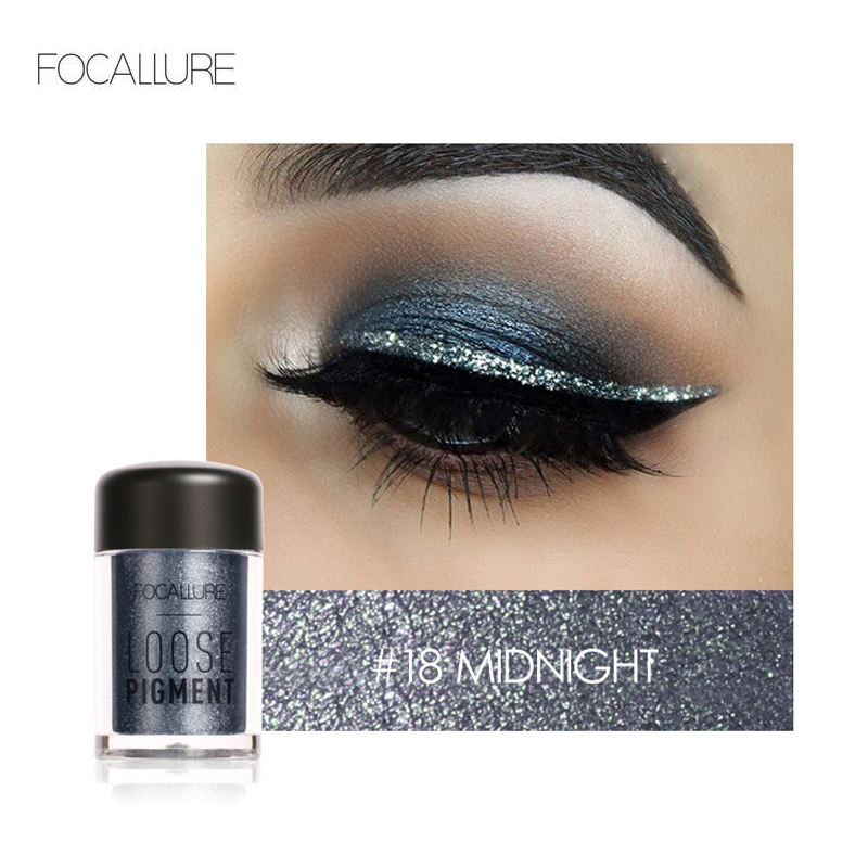 FOCALLURE 18 Colors Glitter Eye Shadow Cosmetic Makeup Diamond Lips Loose Makeup Shimmer Eyes Pigment Powder Cosmetics Make Up
