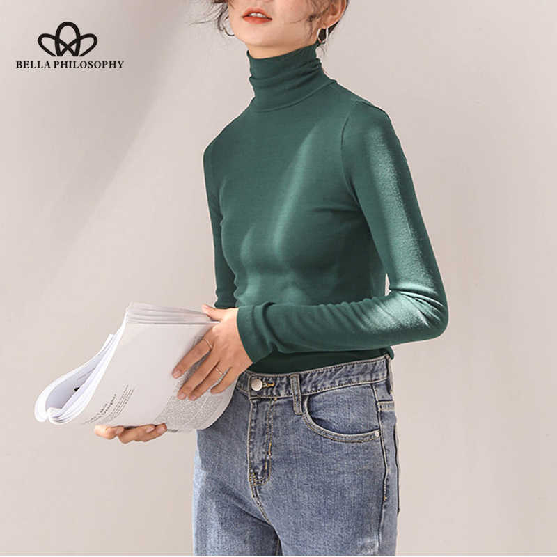 Bella Philosophy 2018 autumn new Korean thin cotton sweater women's long-sleeved winter bottoming knitted shirt