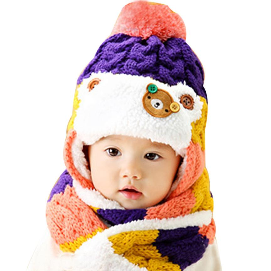 1272c4a0136 Newborn Children Photography Accessories Baby Hats Baby Hats Winter Autumn  Hats Woolen Caps Kids Winter Hats Baby Bonnet Touca-in Hats   Caps from  Mother   ...