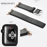 Chất lượng tốt watchband phù hợp với-tất cả quay số của apple watch series 38 mét 42 mét iwatch Strap Nhạc 2 Màu Đen Nâu Cho Phụ Nữ/Men Dây Đai