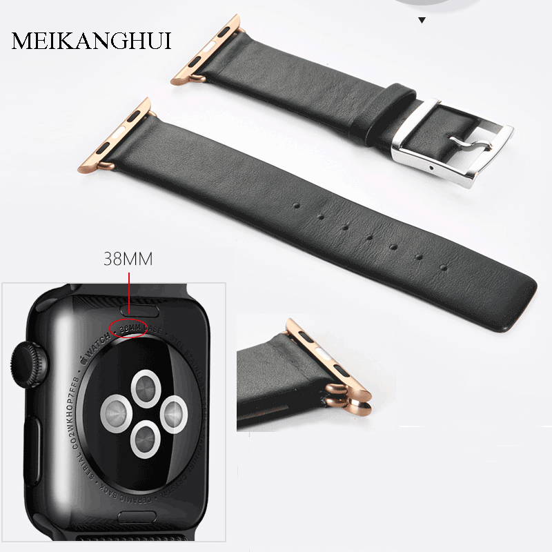 Good Quality Watchband Fits-all dial of Apple Watch Series 38mm 42mm iwatch Strap Band 2 Color Black Brown For Women /Men Straps eache silicone watch band strap replacement watch band can fit for swatch 17mm 19mm men women