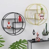 Nordic Fashion Decorative Wall Shelf Living Room Wall Organizer Black/White/Gold Shelves For Wall