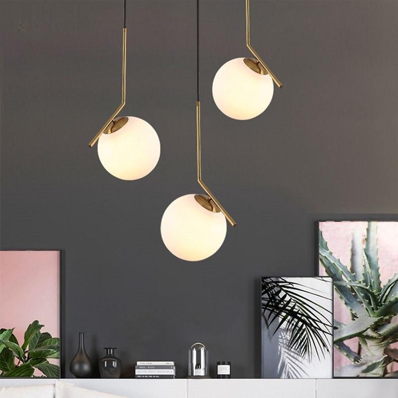 LukLoy Modern Globe Ball Table Light Table Lamp Kitchen Living Room Bedroom Bedside Hanging Pendant Lighting Fixtures
