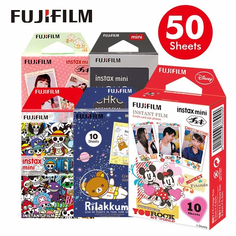 Original Fujifilm Fuji Instax Mini 8 Film 10 Sheets For 70 50s 7s 90 25 Share SP-1 Instant Cameras New arrive