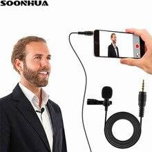 Professional For Phone Portable Mini Stereo HiFi Sound Quality Condenser Microphone Clip Lapel Mic