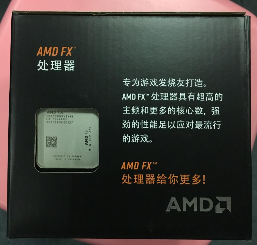 AMD FX-Series FX-8300 Boxed heat sink FX 8300 Octa Core AM3+ CPU FX8300 FX 8300 100% working properly Desktop Processor